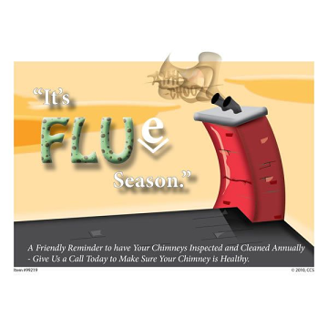 Flue Season Appointment Postcard - Pack of 250 Blank on Back