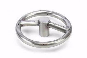 HPC Fire FRS-12KIT 12'' SS Match Lit Fire Ring Burner Kit - NG
