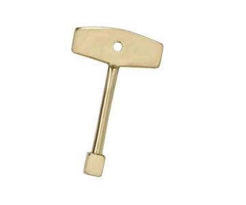 "Dagan VK4-14-SB 4"" Gas Valve Key - Brass"