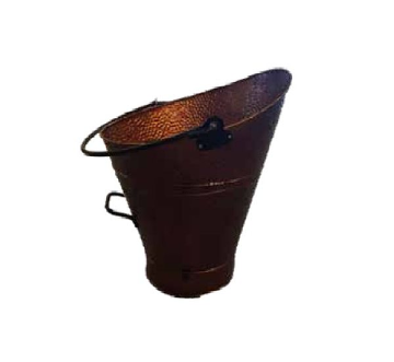 Dagan 1520 Hammered Steel Coal Hod - Copper