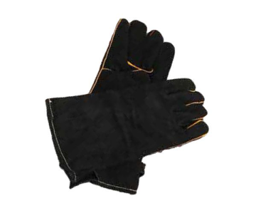 Dagan LG-4 Pair Of Suede Gloves - Black