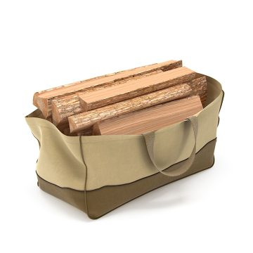 Dura Covers LRFP5503 Fade Proof Jumbo Firewood Log Carrier Tote in Tan