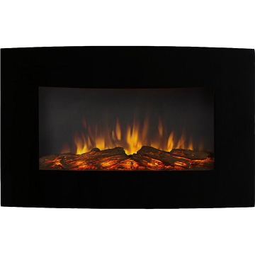 Regal Flame LW5135LR Broadway 35in Electric Wall Mounted Fireplace - Log