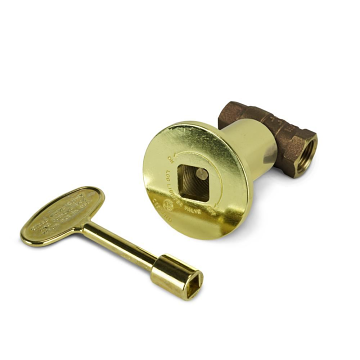 Starfire Designs 1/2'' Polished Bronze Decorative Gas Key Valve Kit