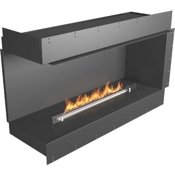 Planika Forma 48 in indoor Left Corner Fireplace With 39 in FLA Burner