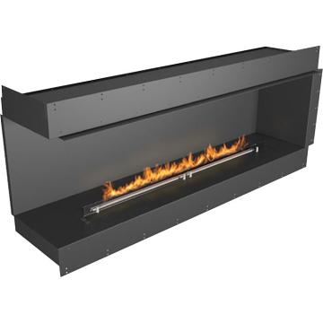 Planika Forma 72 in indoor Left Corner Fireplace With 59 in FLA Burner