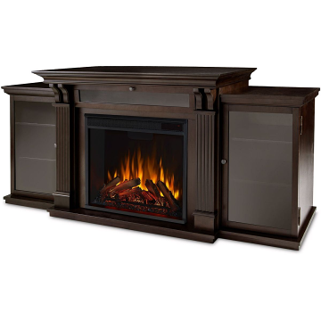 Real Flame 7720E-DW Calie Entertainment Electric Fireplace - Dark Walnut