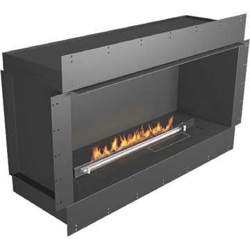 Planika Forma 48 in indoor S ingle Sided Fireplace With 39 in FLA Burner