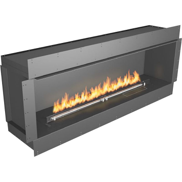 Planika Forma 72 in indoor S ingle Sided Fireplace With 59 in FLA Burner