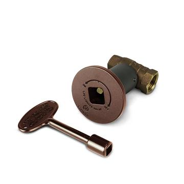 Starfire Designs 1/2'' Antique Copper Decorative Gas Key Valve Kit