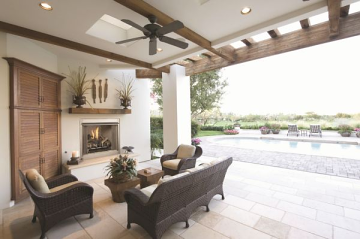 """VRE3236ZENWS 36"""" Vent Free Outdoor Fireplace w/Stacked - NG"""