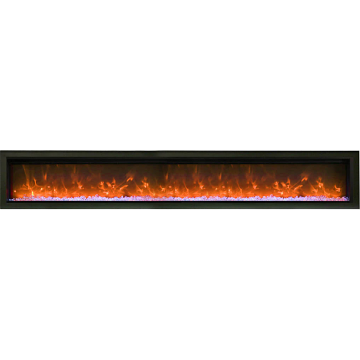 "Remii 100"" Basic Clean-Face Electric Fireplace Built-In with Glass"