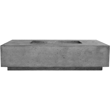 Prism Hardscapes Tavola 8 Fire Table in Pewter - NG