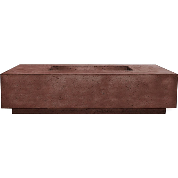 Prism Hardscapes Tavola 8 Fire Table in Cafe - LP
