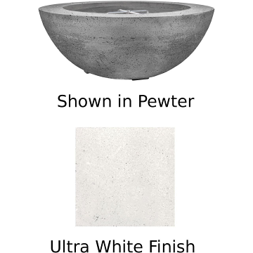 Prism Hardscapes Moderno 8 Fire Bowl in Ultra White - NG
