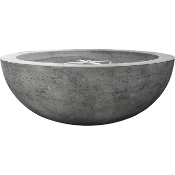 Prism Hardscapes Moderno 70 Electric Ignition Fire Bowl in Pewter - NG
