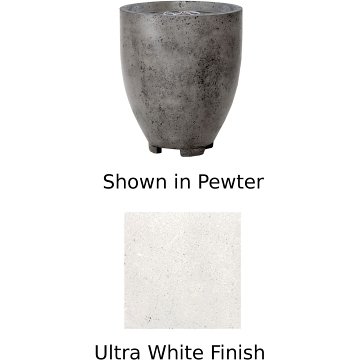 Prism Hardscapes Pentola 1 Fire Bowl in Ultra White - NG