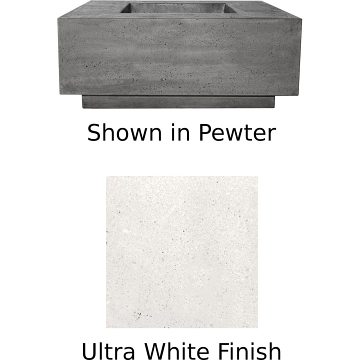 Prism Hardscapes Tavola 42 Fire Table in Ultra White - LP