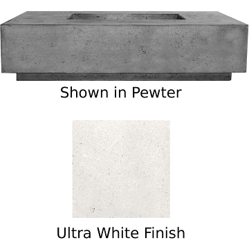 Prism Hardscapes Tavola 66 Slim Fire Table in Ultra White - NG