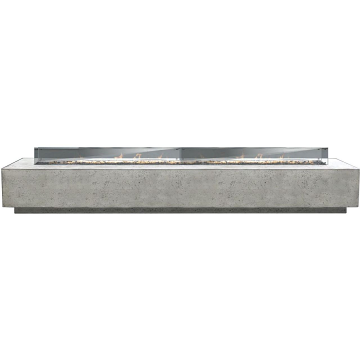 Prism Hardscapes Tavola 110 Fire Table With Winguard in Pewter - NG