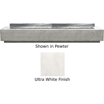 Prism Hardscapes Tavola 110 Fire Table With Winguard in Ultra - LP