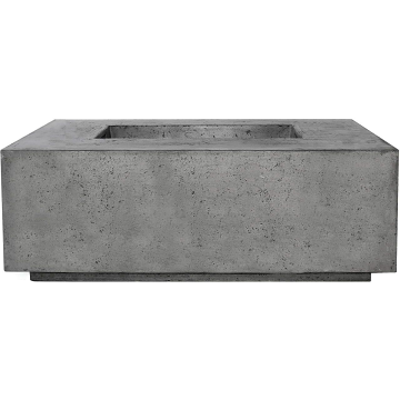 Prism Hardscapes Portos 58 Enclosed Propane Fire Table in Pewter - LP