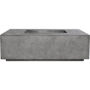 Prism Hardscapes Portos 68 Enclosed Propane Fire Table in Pewter - LP