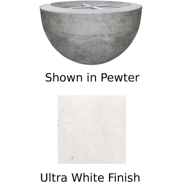 Prism Hardscapes Moderno 3 Fire Bowl in Ultra White - LP