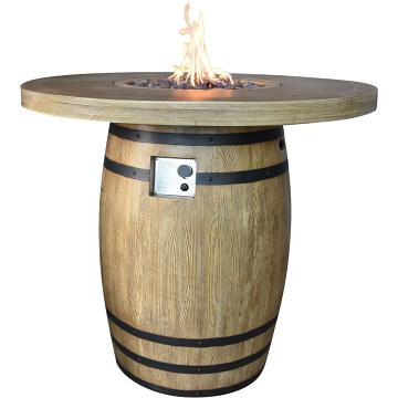Elementi OFG225RWLP Lafite Barrel Fire Table - Propane