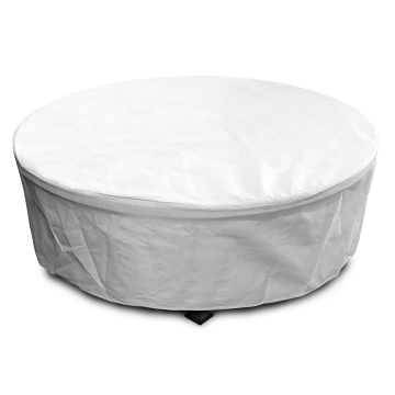 """KoverRoos 45""""Dia x 21""""H DuPont Tyvek Round Fire Pit Cover - White"""
