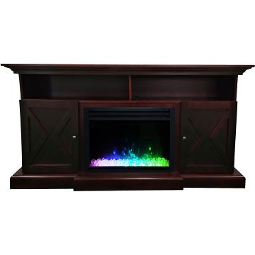 "Cambridge 62"" Summit Electric Fireplace Mantel - Mahogany"