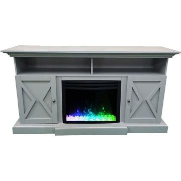 "Cambridge 62"" Summit Electric Fireplace Mantel - Slate Blue"