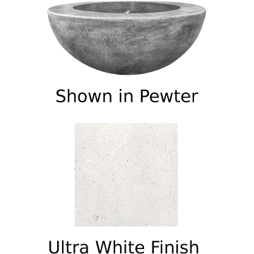 Prism Hardscapes Moderno 5 Fire Bowl in Ultra White - LP