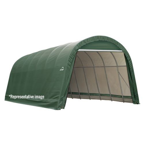 13x28x10 Round Style Shelter with Green Cover