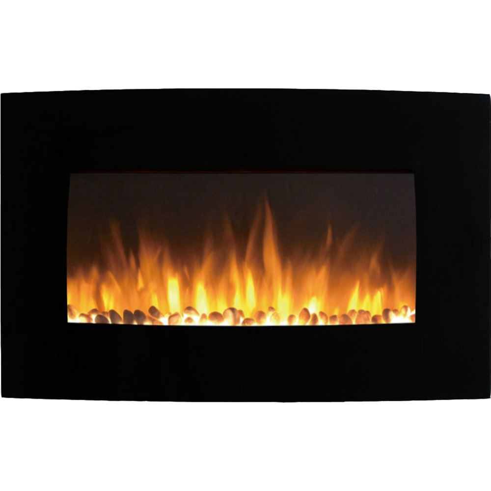 Regal Flame LW5135PF Broadway 35in Electric Wall Mounted Fireplace - Pebble