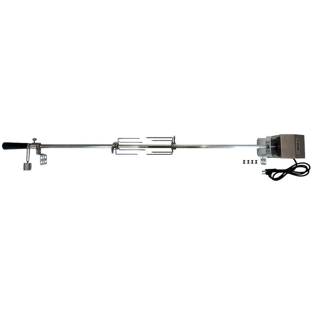 """OneGrill 6PS1006 Stainless Universal Complete Grill Rotisserie Kit - 45"""" x 5/8"""""""