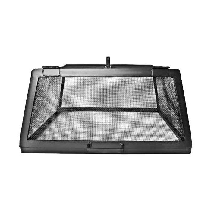 """Master Flame 55"""" x 55"""" SS Fire Pit Screen w/Hinged Access Panels"""
