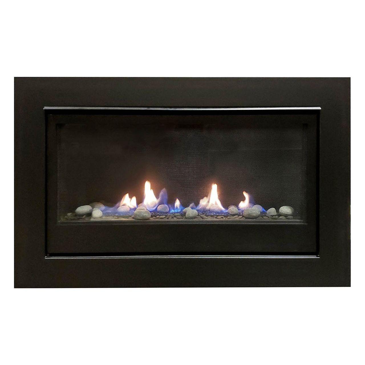 Sierra Flame Boston-36 Builders Linear Gas Fireplace - Liquid Propane