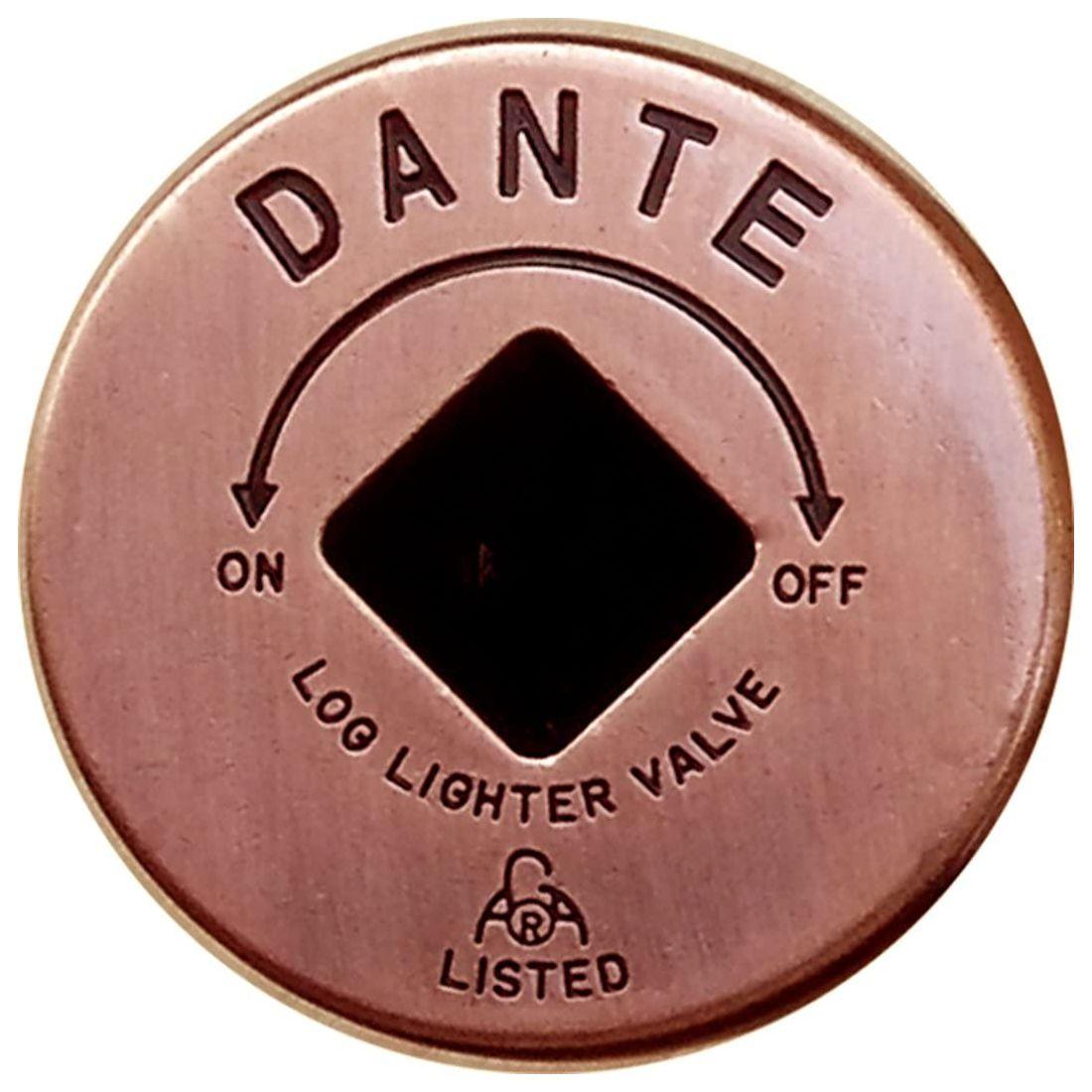 Dante Gas Valve Floor Plate - Antique Copper