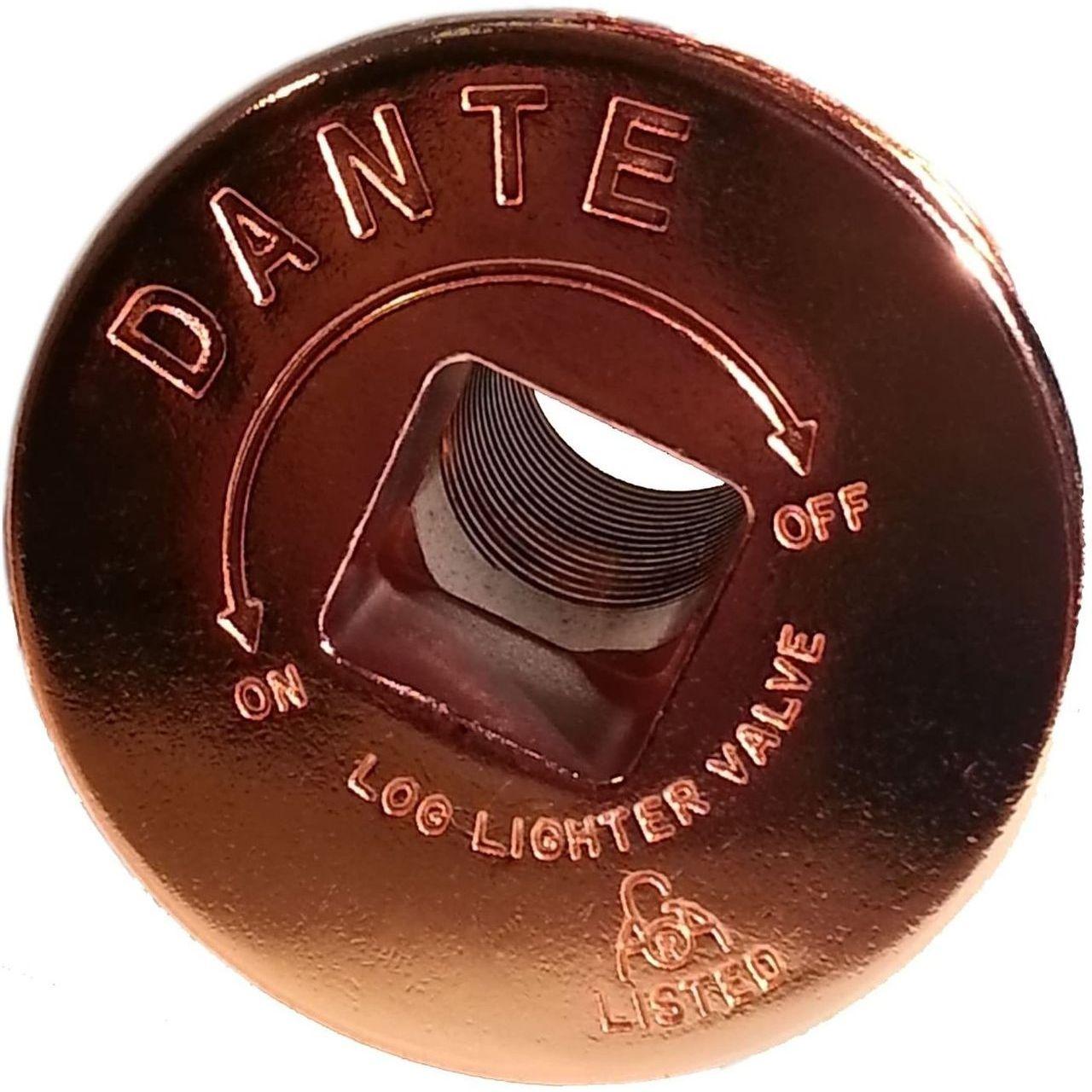 Dante Gas Valve Floor Plate - Bright Copper