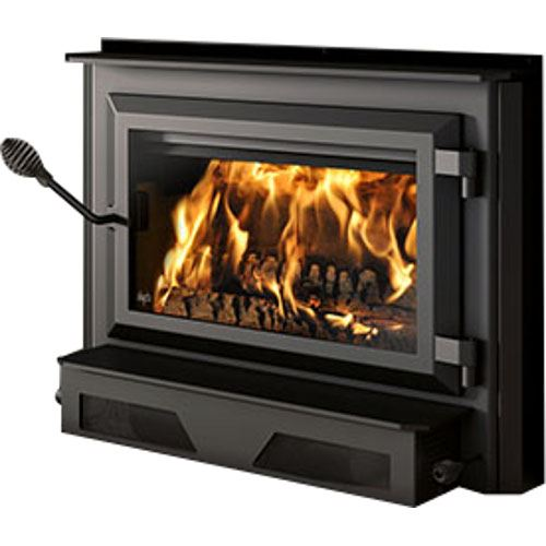Ventis HEI240 Large Single Door Wood Fireplace Insert with Large Faceplate (34'' x 50'')