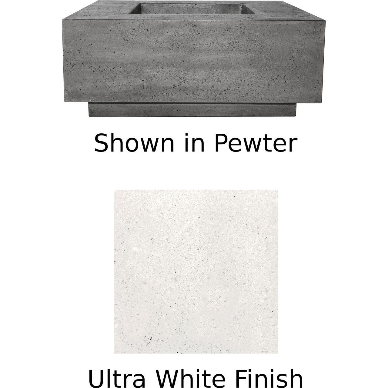 Prism Hardscapes Tavola 7 Fire Table in Ultra White - LP