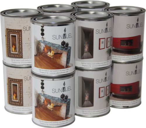 Anywhere Fireplace SJ12 SunJel Gel Fuel Cans - Pack of 12