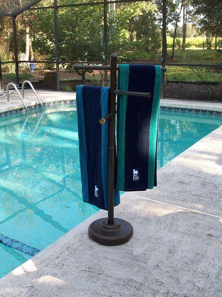 Portable Outdoor 3 Bar Towel Tree, Bronze