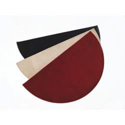 "Crimson Half Round Hearth Rug, 72"" X 36"", Synthetic Fibers"