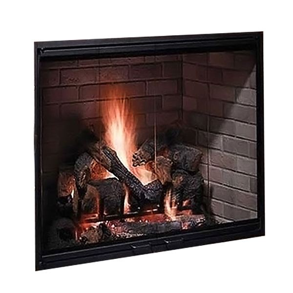 "36"" Radiant Wood Burning Fireplace w/Herringbone Brick Pattern"