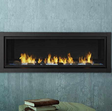 """60"""" Artisan Vent Free Linear Fireplace, IntelliFire Touch Control, Natural Gas"""