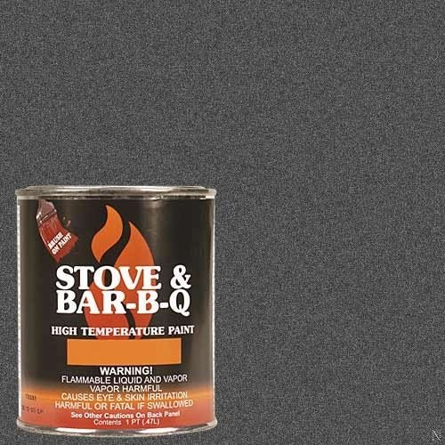 Stove Bright Charcoal Brush - On 1200 Degree Paint - pint