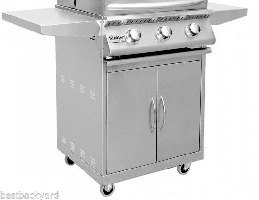 """Stainless Steel Gas Grill Cart for 26"""" Sizzler Grill - Cart Only"""