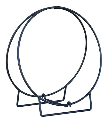 "24"" Black Log Hoop - 1/2"" Solid Stock"